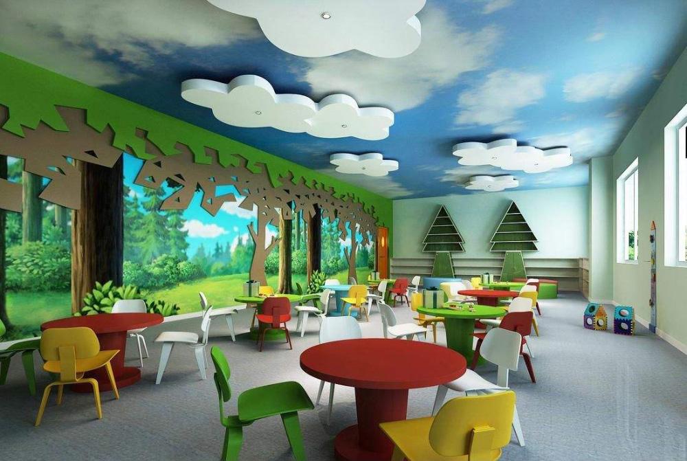 成都幼儿园装饰设计配色是关键-成都幼儿园装修设计