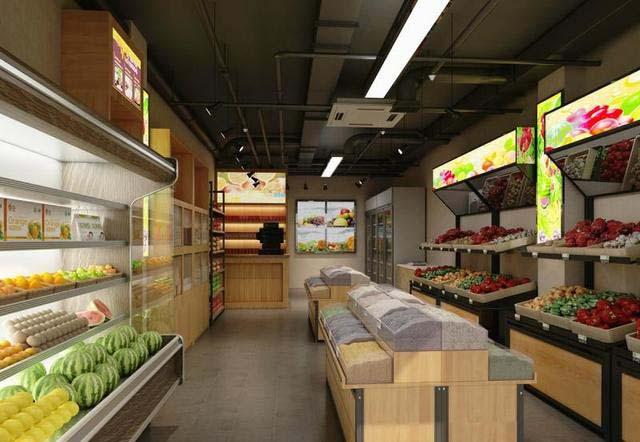 成都小型水果店铺怎么装修设计?