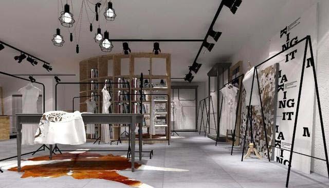 成都时尚服装店装修设计_专业服装店装修设计公司