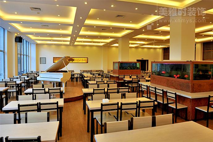 成都高校学生餐厅细节人性化的装修设计