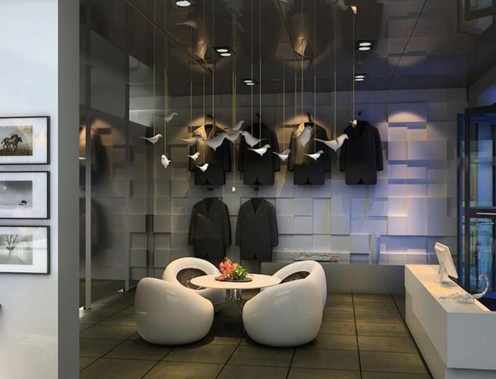 成都商务风服装店铺装修设计分享