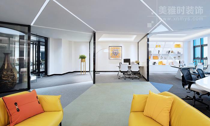 办公室隔断装修该如何布局设计?-成都办公室装修设计