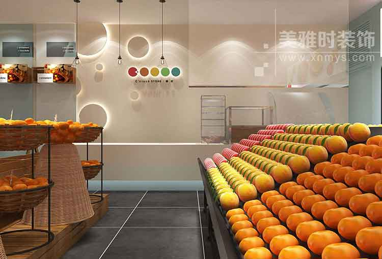 60平水果店铺装修设计