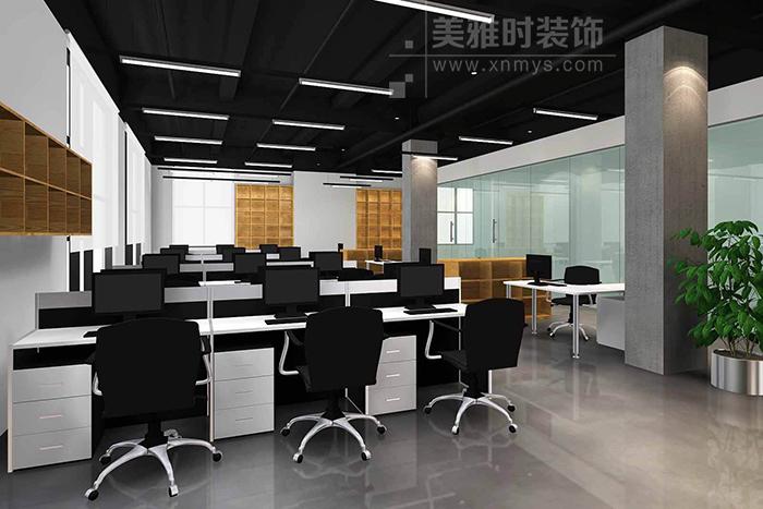 成都环球中心200平简约办公空间如何装修设计