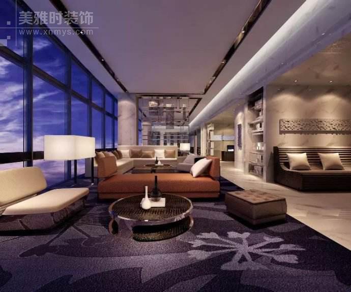 成都特色商务酒店装修设计与色彩布局