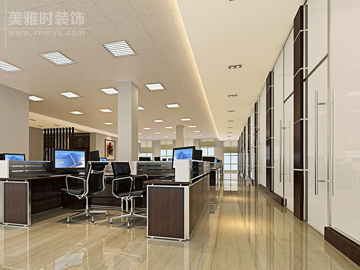 成都孵化园300平科技办公装修设计效果