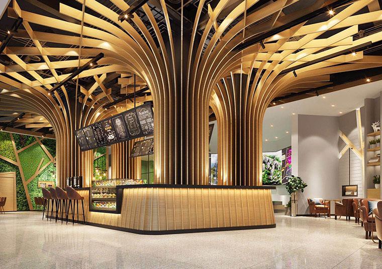成都兴龙湖茶餐厅装修设计
