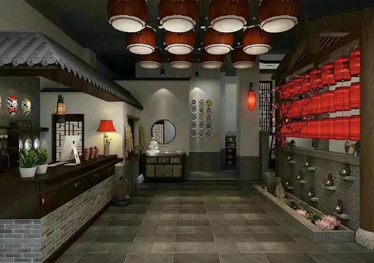 四川川剧餐厅装修设计效果图